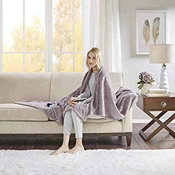 Beautyrest Plush Heated Electric Blanket Throw - Secure Comfort Technology - Oversized Cozy Soft Microlight - 3-Setting Heat Controller- 5 Years Warranty, 60x70, Lavender
