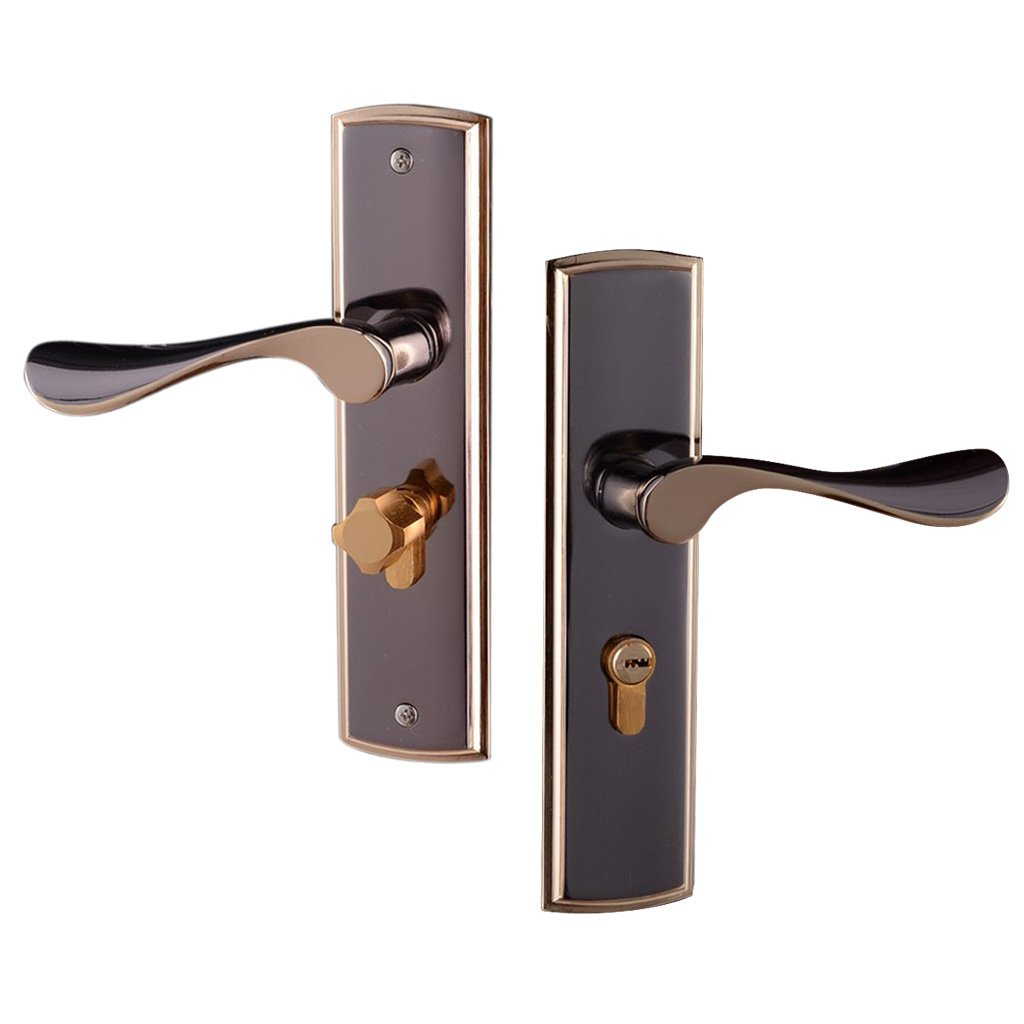 MagiDeal 3pcs Aluminum Alloy Door Handle Lock Home Entry Security Door Lockset for Bedroom Bathroom Latch 3 Keys by Unknown (Image #8)