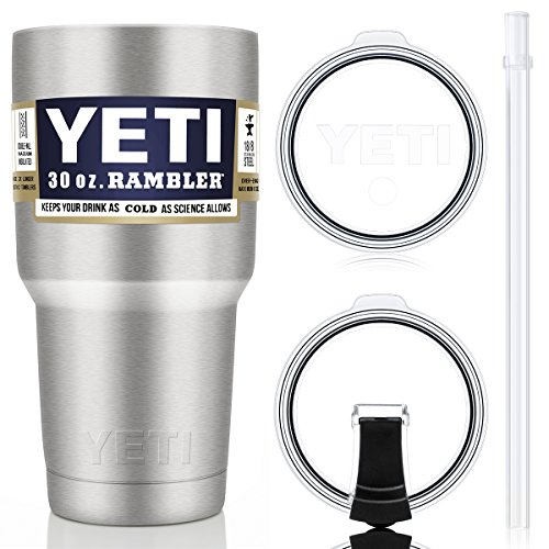 YETI Tumbler with Straw Lid Set(2 lids included for new suit),30oz