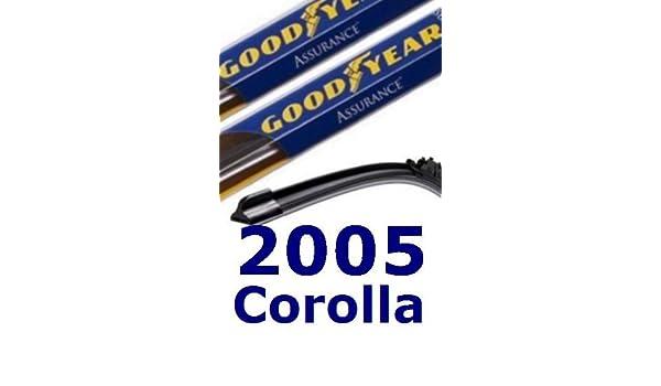 2005 Toyota Corolla repuesto parabrisas limpiaparabrisas (2 cuchillas): Amazon.es: Coche y moto