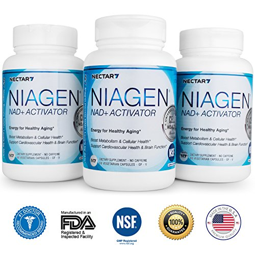 Nectar7 Niagen Nicotinamide Riboside (NR) Vegetarian Capsules with NAD+ Activator, 90 Day Supply