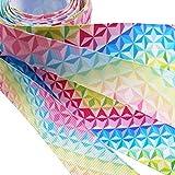 Dandan DIY Assorted 12Yards Diamond Grosgrain Ribbon Craft DIY Gift Packing Hair Bow Accessory (MIX4)