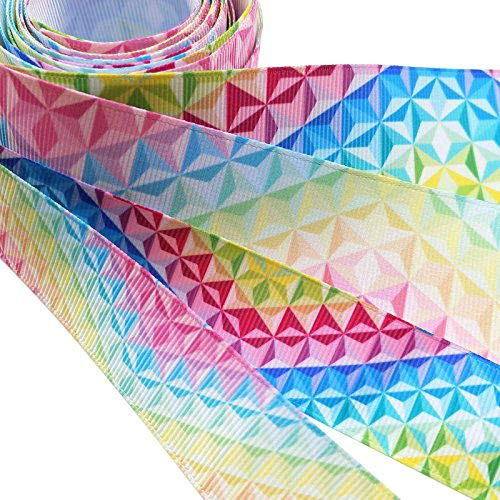 Dandan DIY Assorted 12Yards Diamond Grosgrain Ribbon Craft DIY Gift Packing Hair Bow Accessory MIX4