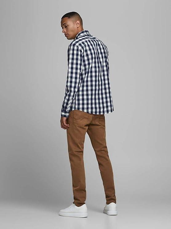 Jack /& Jones Men/'s L//Sleeve Casual Gingham Check Shirt BNWT