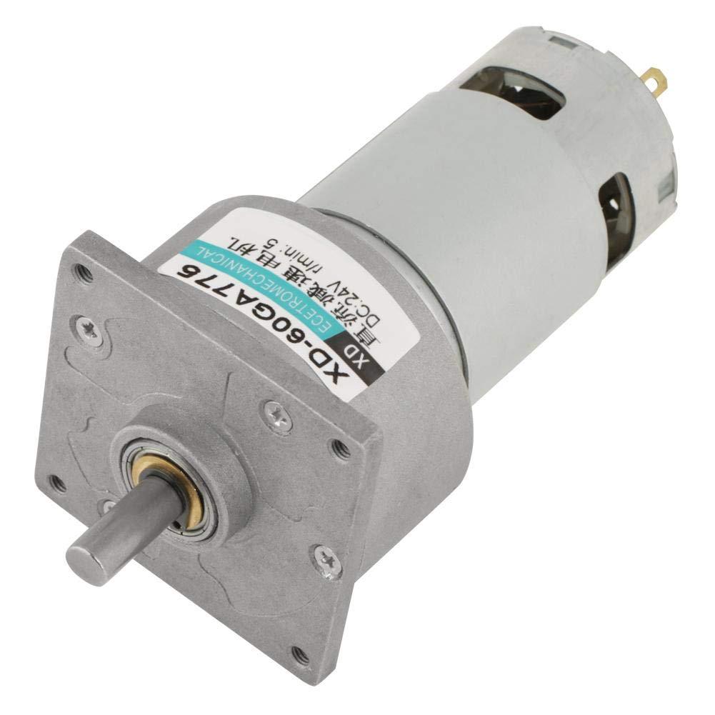 Mini motor de engranaje de CC Motor ajustable de velocidad de metal CW/CCW - DC12V/24V 35W(12V 5rpm)