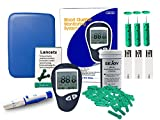 LIFEON BG-102 Glucose Meter Kit, Complete Kit Includes Glucose Monitor, Lancing device, 50 Sterile Lancet, 50 Diabetic Test Strips, English Instructions Book (Glucose meter kit)