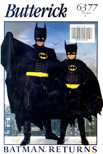 Butterick 6377 Sewing Pattern Boys Batman Returns Costume Small - Medium - Large for $<!---->