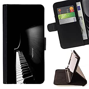 DEVIL CASE - FOR LG G2 D800 - Piano Keys - Style PU Leather Case Wallet Flip Stand Flap Closure Cover