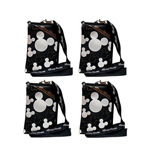 Disney Mickey Mouse Lanyard 4 Pack Silver