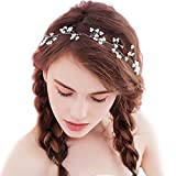 Missgrace Bridal Wedding Crystal Headband -Women and Girls Hair Accessory for Special Occasions