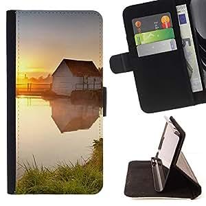 Momo Phone Case / Flip Funda de Cuero Case Cover - Sunset Beautiful Nature 78 - HTC One M9