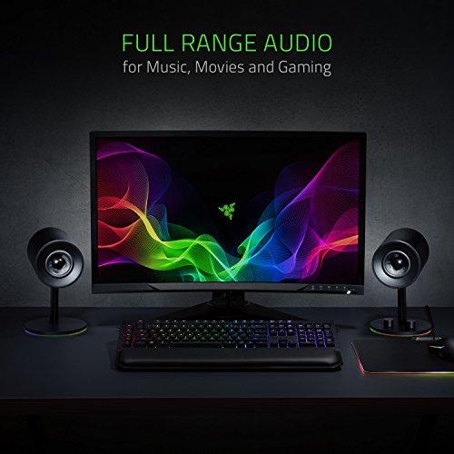 Razer Nommo Chroma - Computer Speakers, Rear Bass Ports for Full Range Gaming & Sound Immersion - Custom Woven Glass Fiber 3'' Drivers by Razer (Image #1)