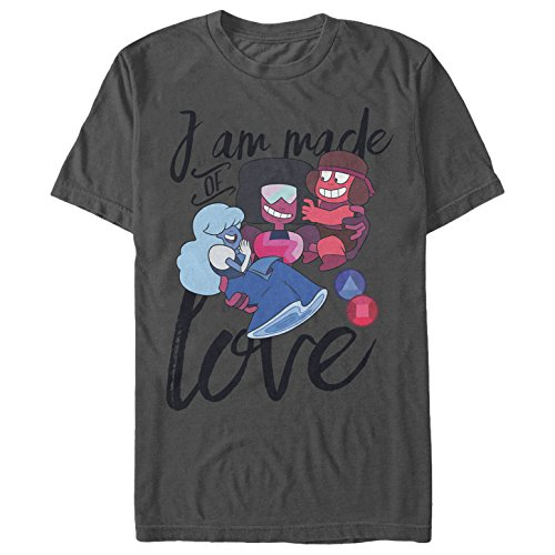 (Steven Universe Men's Made of Love Charcoal)