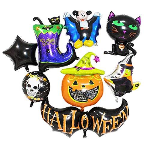 Halloween Balloon Set,Lovewe Halloween Aluminum Film Balloon,Combination Explosion Models Balloon,Halloween Bat Pumpkin -