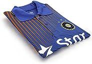 Star India Cricket Mens T-Shirt LARGE
