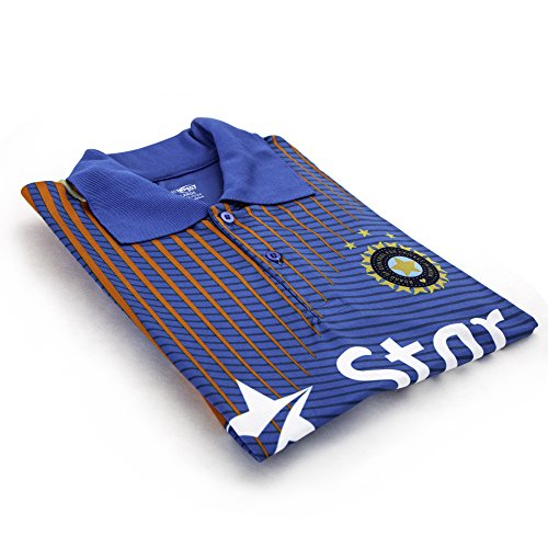 Pro Impact Star India Cricket Men's T-Shirt - Moisture Wicking Mens Polo Shirt - Star India Team Support & Represent - for Teens & Adults (T-shirts Team Cricket)