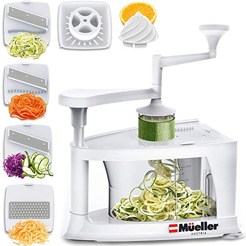 (Mueller Spiral-Ultra Multi-Blade Spiralizer, 8 into 1 Spiral Slicer, Heavy Duty Salad Utensil, Vegetable Pasta Maker and Mandoline Slicer for Low Carb/Paleo/Gluten-Free Meals)