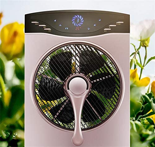YFF-Ventilator Oscillating Outdoor Misting Fan - Große Indoor-Spray Cooling Industrial Fan Luftbefeuchter 3 Geschwindigkeitseinstellungen Starke Quiet Rose Gold