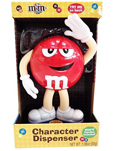 Collectible -- Red M&M Collectible M & M Character Candy Dispenser -- approx 10.5'' tall by M&M