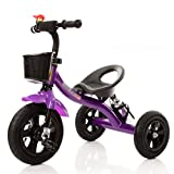 Gai Hua Home Stroller Toys Piano paint children's tricycle inflatable wheel baby toy car 1-2-3-4 year old bicycle (Color : Purple)