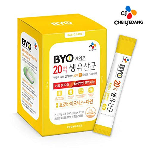 CJ Cheiljedang BYO Live Probiotics 2 Billion for Kids - 2 g × 30 Packets, Premium Plant Origin Probiotics