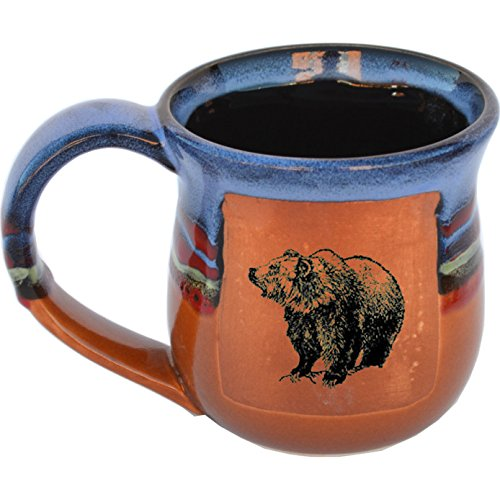 Grizzly Bear Mug in Azulscape Glaze
