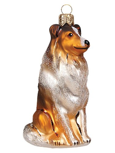 - Pinnacle Peak Trading Company Collie Dog Polish Mouth Blown Glass Christmas Ornament Tree Decoration