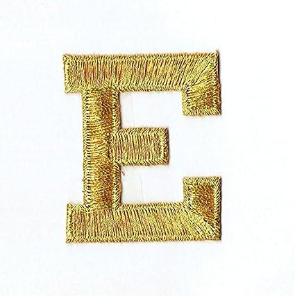 vintage letter e fabric applique iron on name Alphabet monogram 2.5 inch
