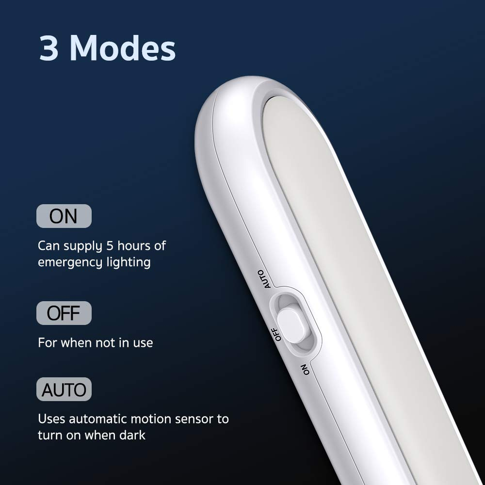 Illuminazione Wireless per Armadio 2 Pezzi Corridoio ed Emergenza Scale Luce notturna con 3 Modalit/à e Magnete Incorporato ESR7Gears Luce da Armadio a 20 LED con Sensore di Movimento Cucina