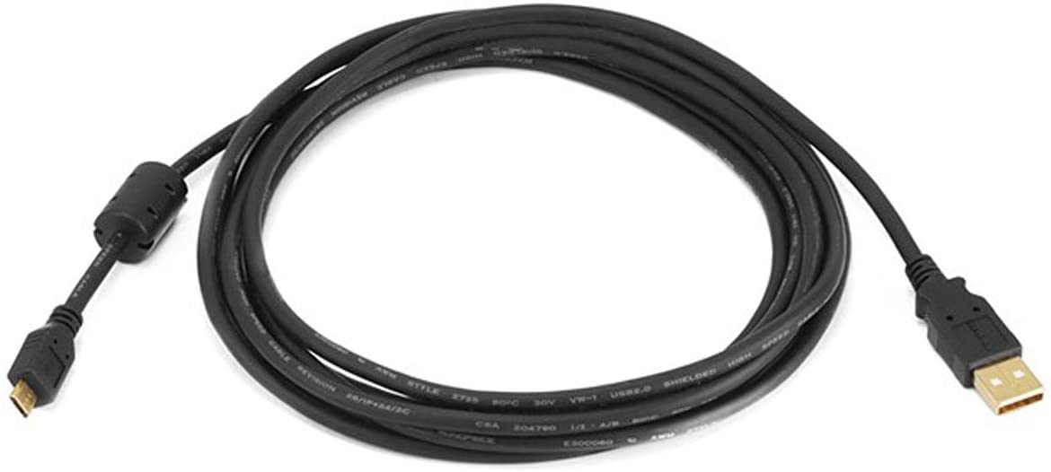 Black Gold-Plated USB 2.0 Cable for Wacom Bamboo Pad USB CTH301K 6ft