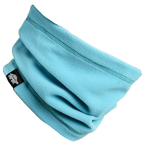 Turtle Fur Single-Layer Lightweight Micro Fur Fleece Neck Warmer, Teal Spin (Fleece Single Layer)