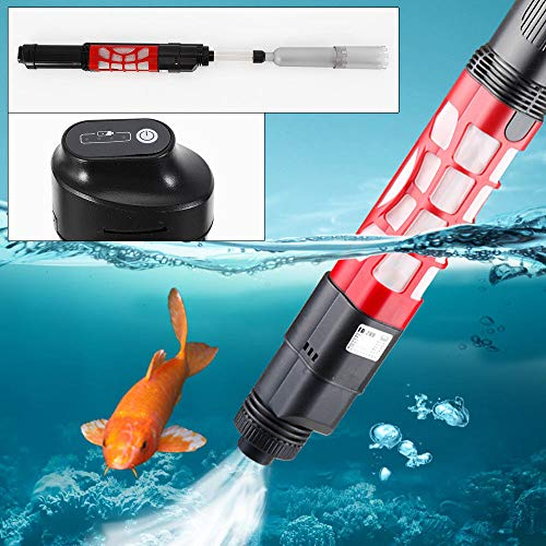 (WUPYI Electric Aquarium Clean Water Changer Fish Tank Pump,Vacuum Gravel Cleaner Automatic Aquarium Sludge Extractor Water Changer,6W 220V,350L/h)