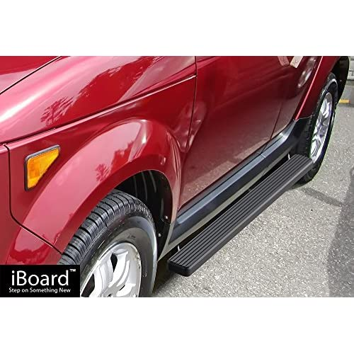 Cheap APS iBoard Running Boards (Nerf Bars | Side Steps | Step Bars) for 2003-2011 Honda Element Sport Utility 4-Door (Excl. SC) | (Black Powder Coated 4 inches) supplier