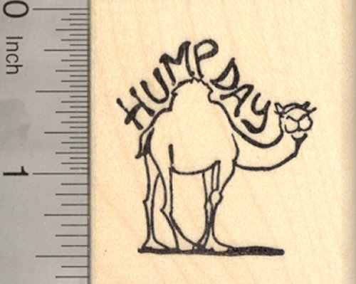 Hump Day Camel Rubber Stamp
