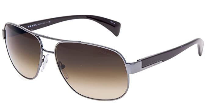 54e6abf6ca Image Unavailable. Image not available for. Color  Prada PR52PS Sunglasses-5AV 6S1  Gunmetal (Brown Gradient Lens)-61mm