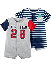 Baby Boys' 2-Pack Snap Up Romper,