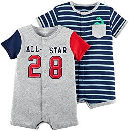 Baby Boys 2-Pack Snap Up Romper