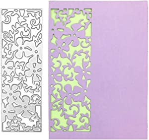 Metal Cutting Dies Stencil, Hollow Flower Lace Border Cutting Die Template Moulds DIY Scrapbooking Album Paper Card Embossing Crafts Décor