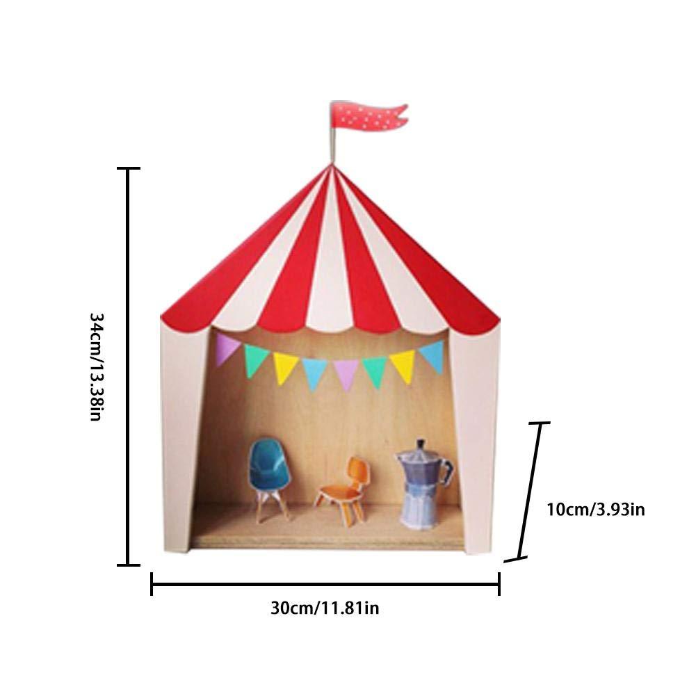 alian Zirkus Kabine Haus Regal Ornamente Hängende Aufbewahrungsbox Kinderzimmer Dekoration