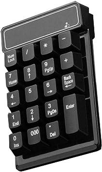 Receptor USB numérico inalámbrico con Teclado numérico a ...