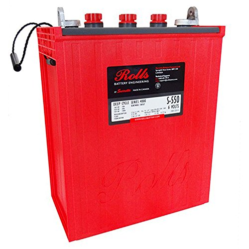 Rolls Surrette S-550 6V 428Ah Deep Cycle Flooded Lead Acid Battery FAST USA SHIP ()