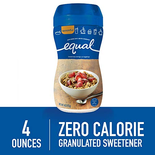- EQUAL Spoonful, Sugar Substitute, Sugar Free Granulated Zero Calorie Sweetener, Sugar Alternative, 4 Ounce