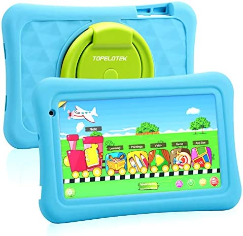 Toddler Tablet 7 Kids Tablet for Toddlers Android 10 Children Tablet for Kids with WiFi Camera 2GB + 32GB Parent Control Google Play Store YouTube Netflix Portable Shock Proof Handle Case(Blue)
