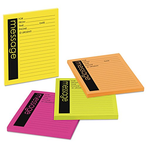 - Post-it Super Sticky Products - Post-it Super Sticky - Super Sticky Message Pads, 3-7/8 x 4-7/8, Neon, 4 50-Sheet Pads/Pack - Sold As 1 Pack - Revolutionary adhesive technology ensures your notes will stick securely to more surfaces. - Remove and re-stick