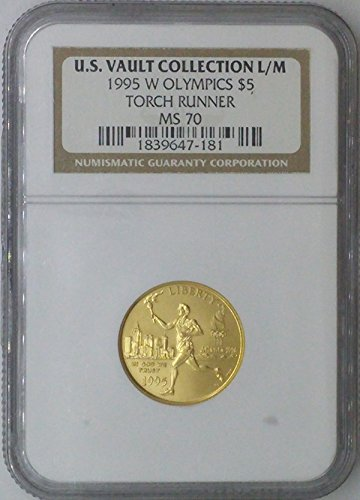 2007 W Commemorative Set $5.00 MS-70 NGC US Vault Collection 22k $5 – Olympics Torch Runner – NGC MS70