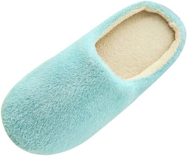 OHQ Zapatillas De Casa Mujer Invierno Zapatillas De Felpa Suave En ...