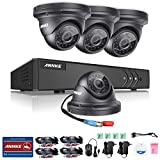 ANNKE 8CH 960P CCTV Camera System, 1080N/1080P Lite HD TVI Security DVR with 4x 960P 1.3MP Indoor/Outdoor Camera, Super Night Vision, IP66 Weatherproof, No HDD
