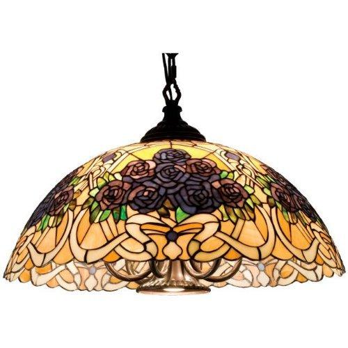 Tiffany Style Swag Hanging Lamp - Meyda Home Indoor Bedroom Decorative 22