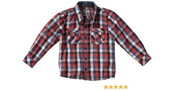 NAME IT - Camisa a Cuadros de Manga Larga para niño, Talla 3-4 años (98/104 cm), Color (Bittersweet): Amazon.es: Ropa y accesorios