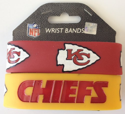 Kansas City Chiefs LOGO Set of 2 Rubber Bracelets